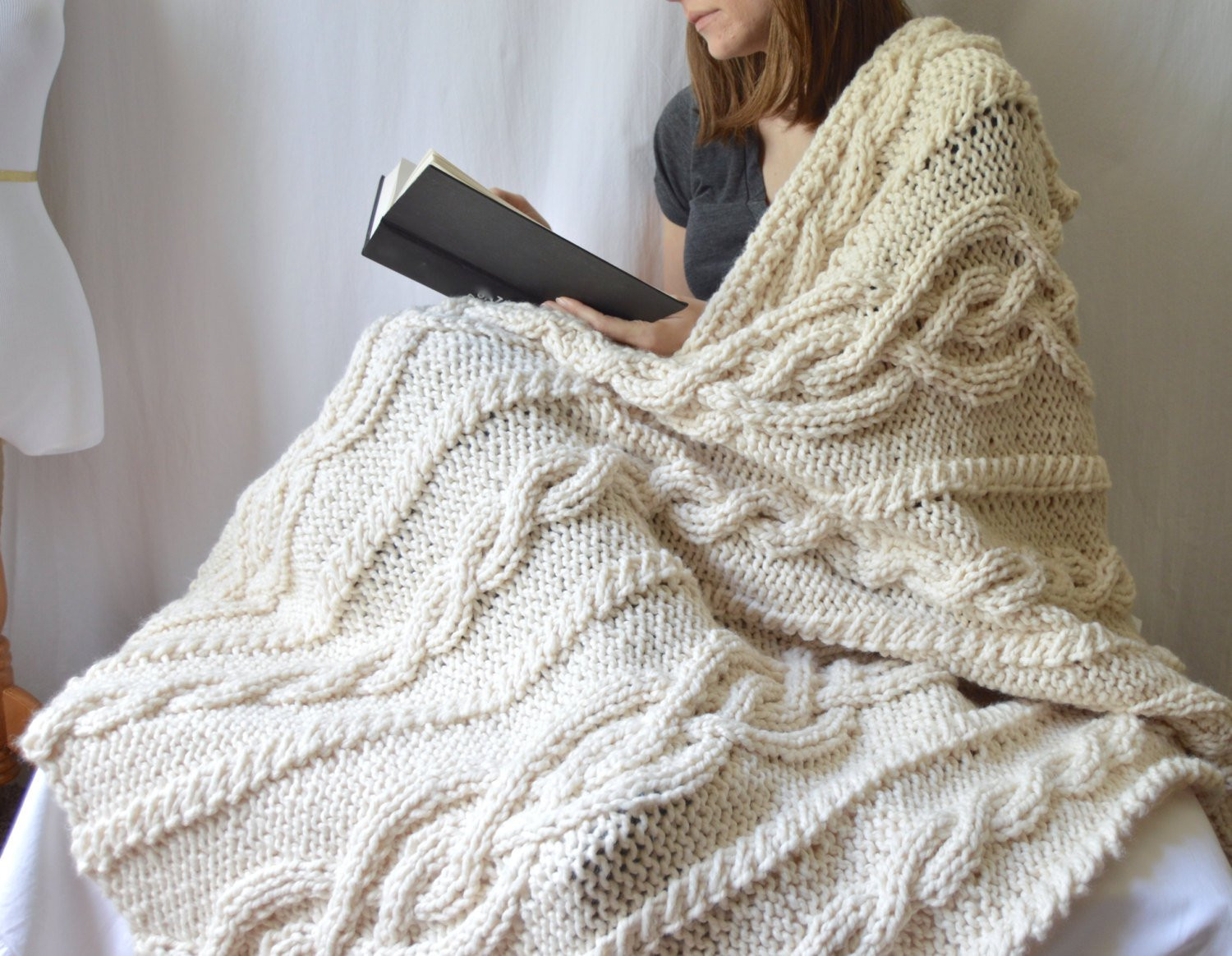 Knit Throw Blanket Awesome Chunky Wool Blend Knitted Blanket Throw Blanket Cable Knit Of New 48 Pictures Knit Throw Blanket