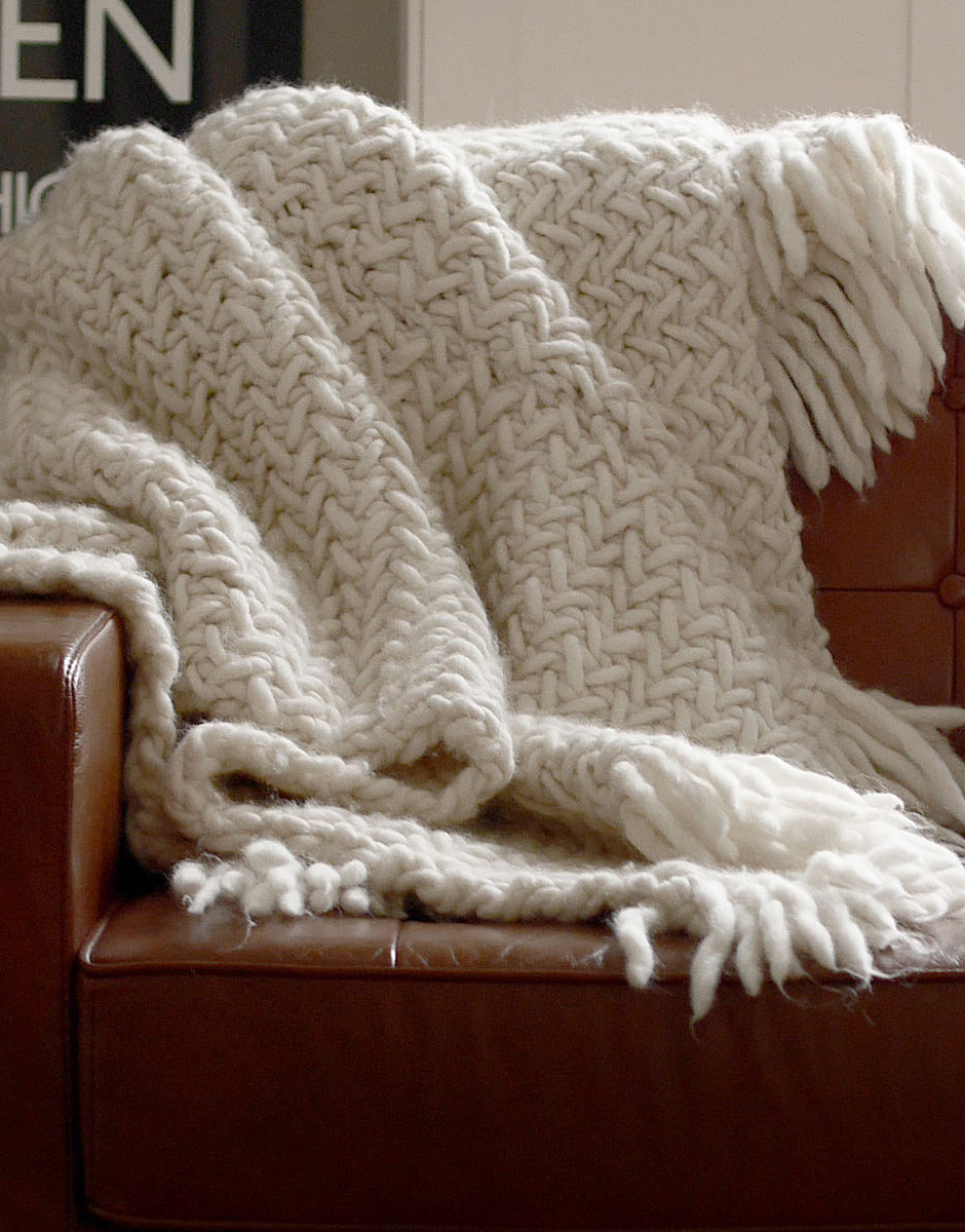 Knit Throw Blanket Awesome How to Knit A Blanket Wool and the Gang Blog Of New 48 Pictures Knit Throw Blanket