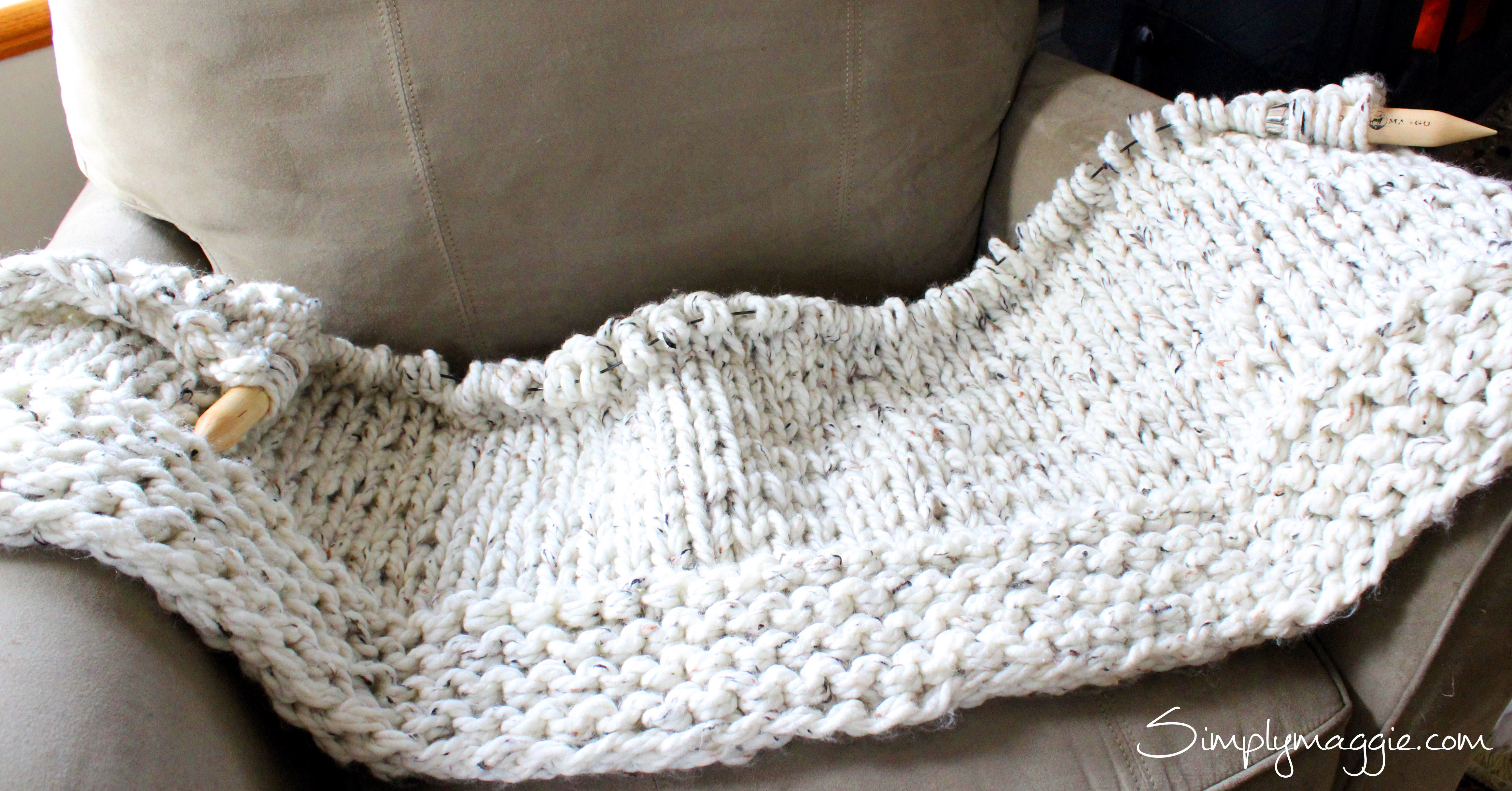 Knit Throw Blanket Beautiful Lush Knit Blanket by Simply Maggie Of New 48 Pictures Knit Throw Blanket