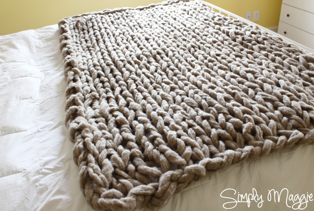 Knit Throw Blanket Lovely Arm Knit A Blanket In 45 Minutes by Simply Maggie Of New 48 Pictures Knit Throw Blanket