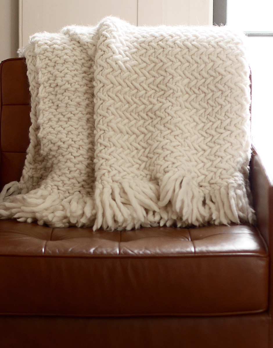 How to knit a blanket Wool and the Gang Blog