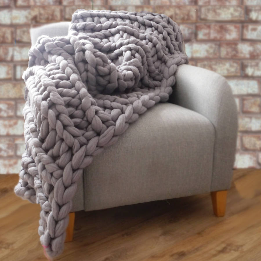 Knit Throw Blanket New Yarns Be Chunky Hand Knitted Throw by Lauren aston Of New 48 Pictures Knit Throw Blanket