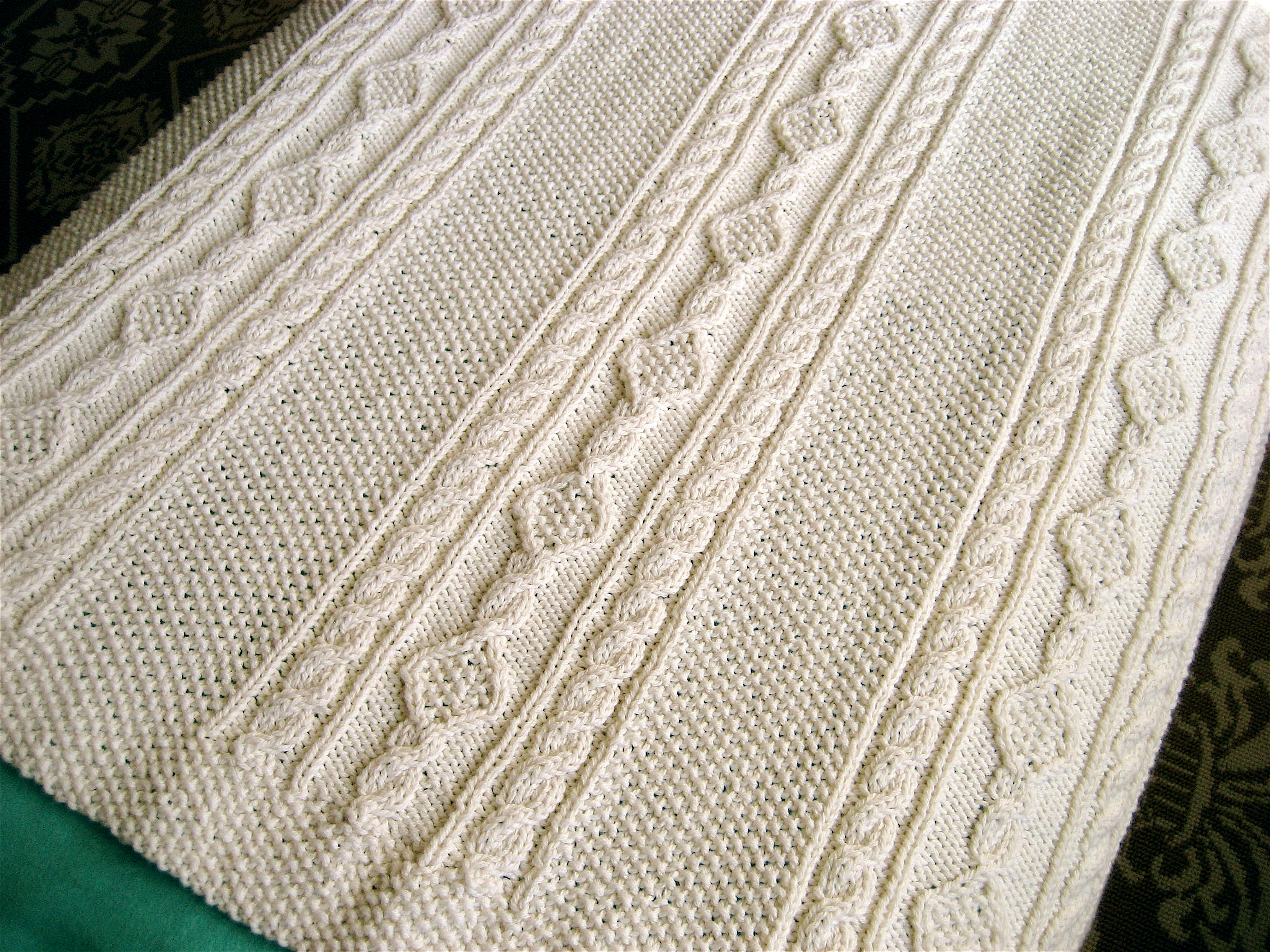 Knitted Afghan Patterns Awesome Irish Knit Baby Blanket Of New 43 Photos Knitted Afghan Patterns
