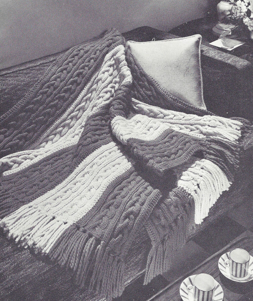 Knitted Afghan Patterns Beautiful Vintage Knitting Pattern to Make Knitted Afghan Throw Of New 43 Photos Knitted Afghan Patterns