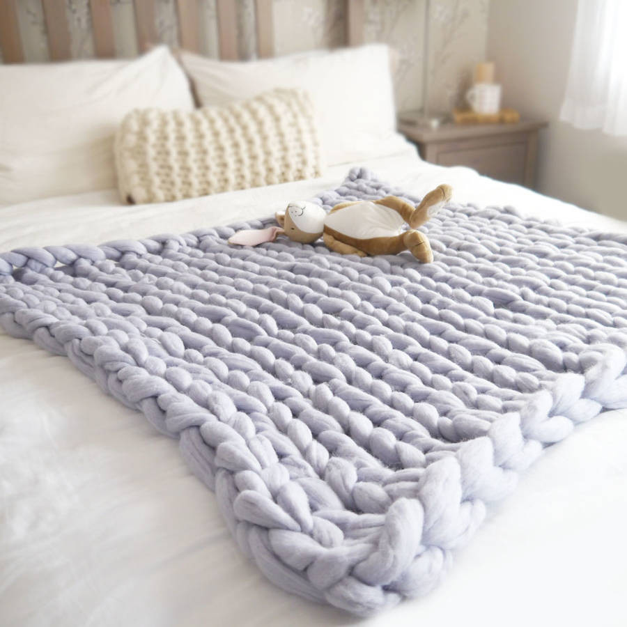 Knitted Baby Blanket New Super Chunky Knit Baby Blanket by Lauren aston Of Amazing 46 Pictures Knitted Baby Blanket