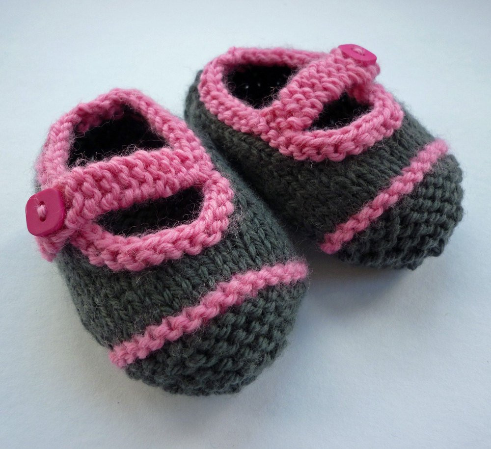 Baby Booties Knitting Pattern Knit Baby Shoes PDF Easy Knit
