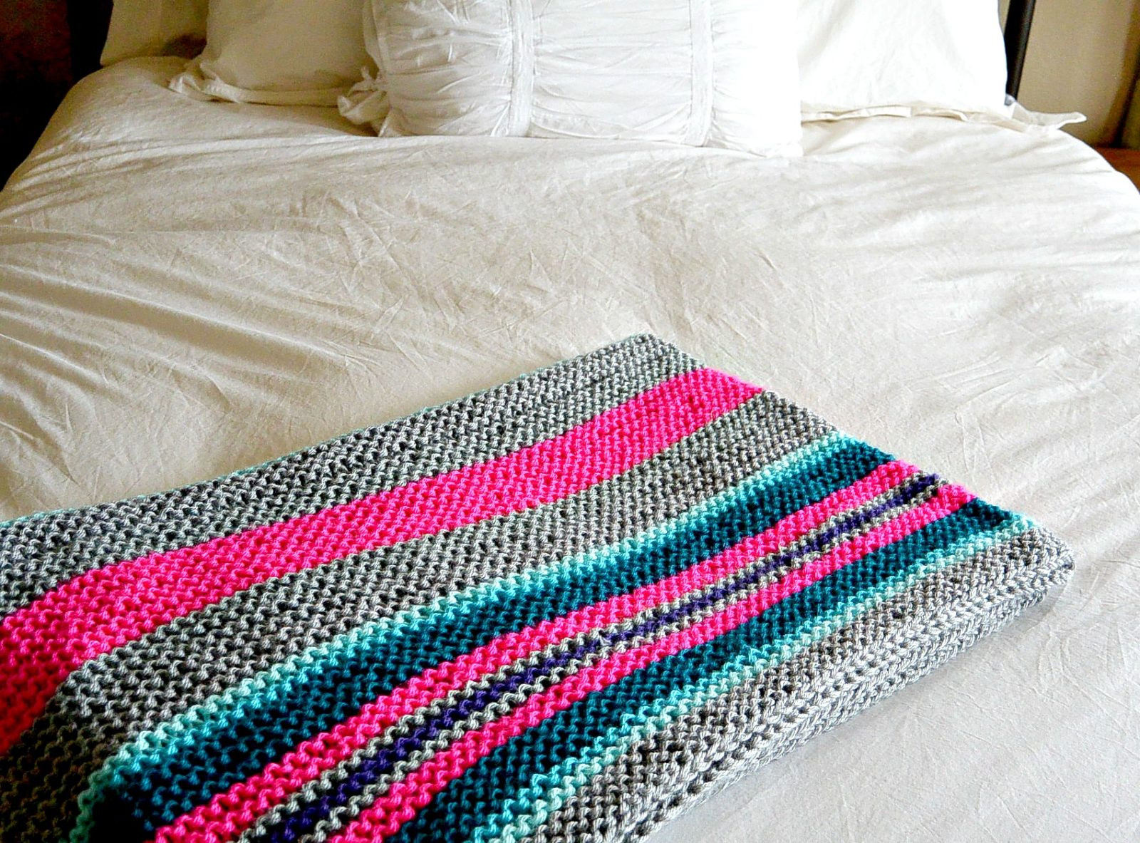Knitted Blanket Patterns Beautiful Easy Native Stripes Knit Blanket Throw – Mama In A Stitch Of Adorable 45 Photos Knitted Blanket Patterns