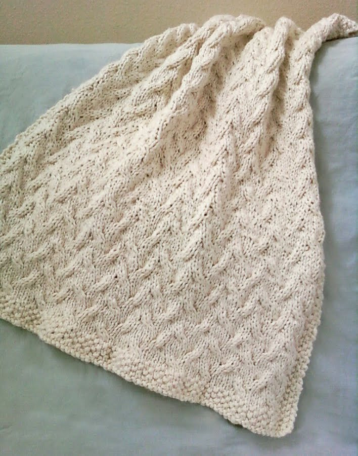 Knitted Blanket Patterns Beautiful Luluknits Ocean Cable Knit Blanket Of Adorable 45 Photos Knitted Blanket Patterns