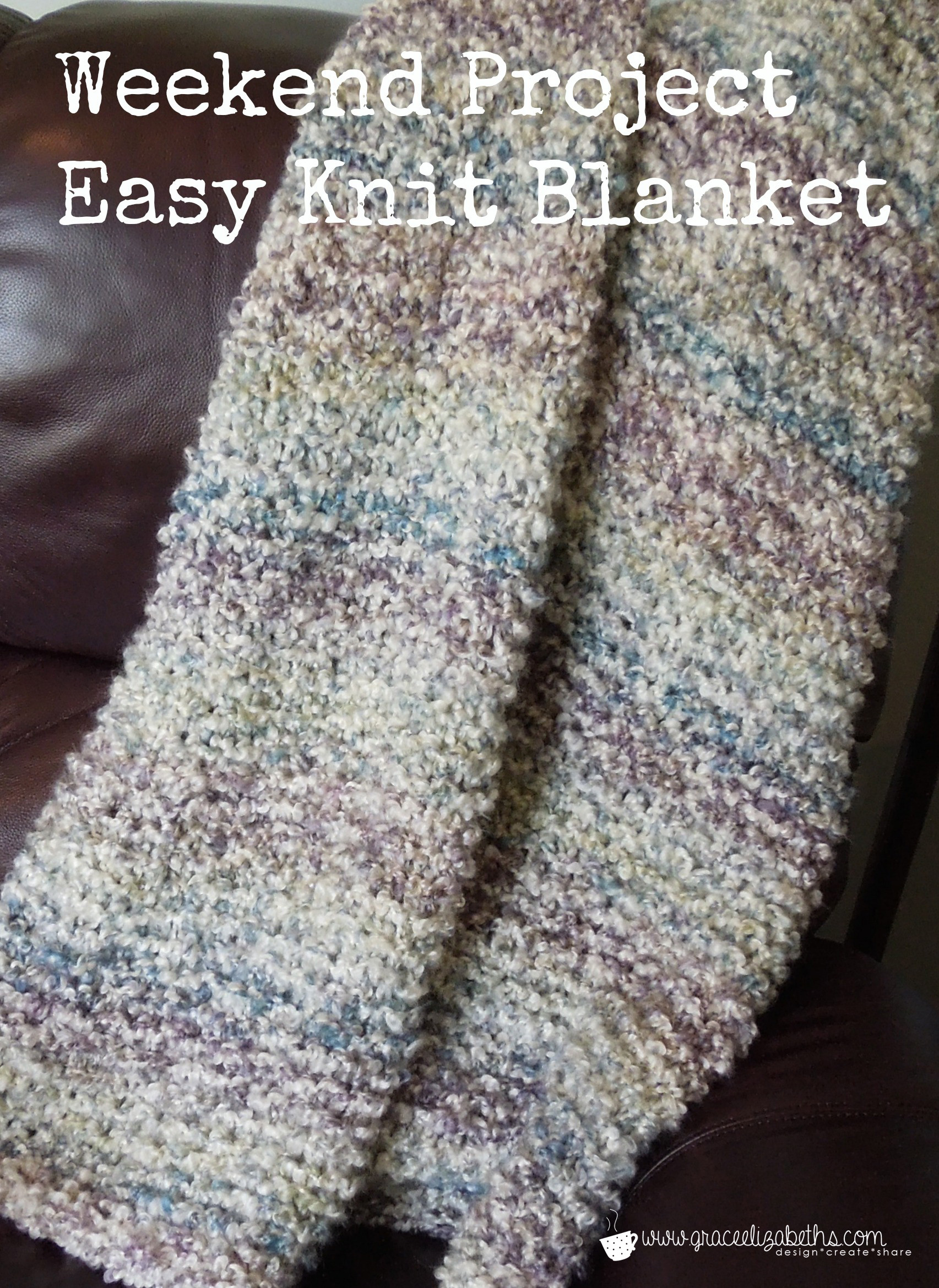 Knitted Blanket Patterns Inspirational Weekend Project Free Easy Knit Blanket Pattern Grace Of Adorable 45 Photos Knitted Blanket Patterns