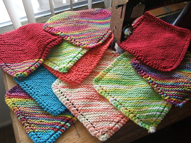 Knitted Dishcloth Inspirational [free Pattern] Very Easy Diagonally Knit Dishcloth with Of Gorgeous 46 Photos Knitted Dishcloth