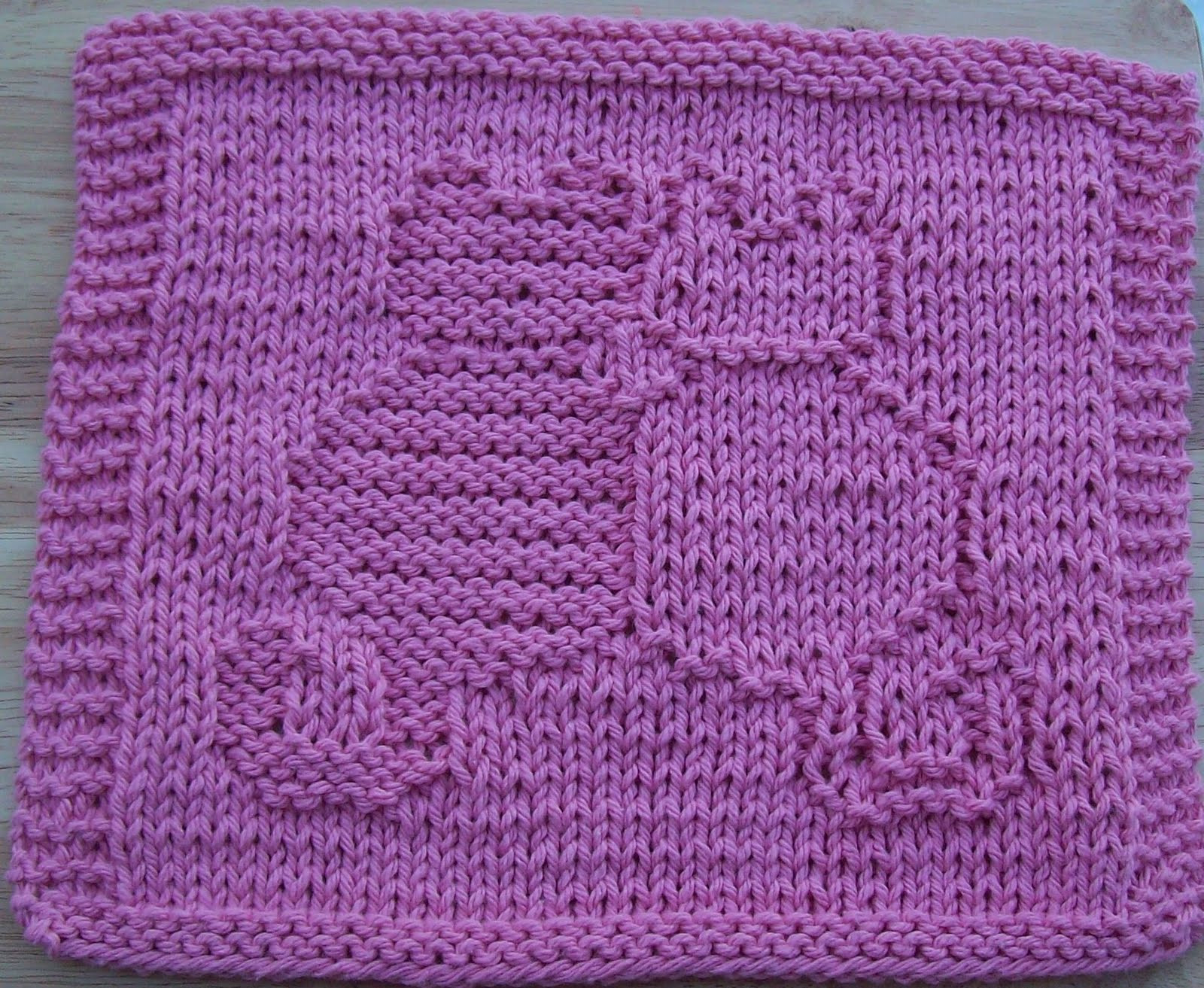 DigKnitty Designs Snuggling Cats Knit Dishcloth Pattern
