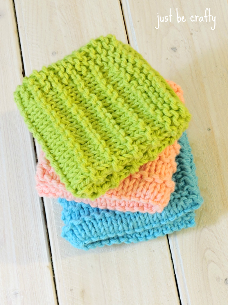Knitted Dishcloth Patterns Awesome Farmhouse Kitchen Knitted Dishcloths Just Be Crafty Of Brilliant 47 Pics Knitted Dishcloth Patterns