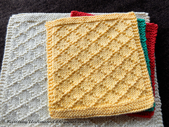 Knitted Dishcloth Patterns Inspirational Dishcloth 6 Diamond Brocade Knitting Unlimited Of Brilliant 47 Pics Knitted Dishcloth Patterns