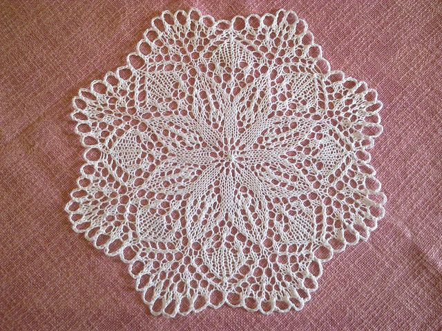 My knitted doily Knitting lace doily