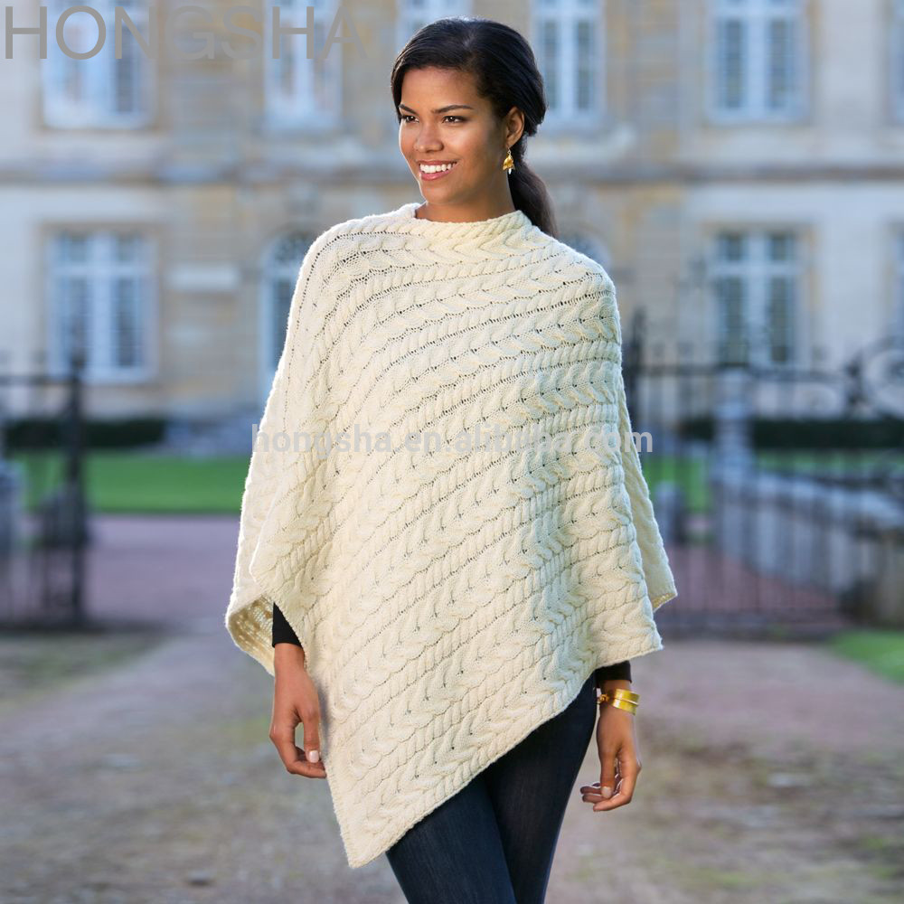 Knitted Poncho Awesome Merino Wool Sweater Irish Wool Knitted Poncho Hsc1372 Of Amazing 49 Photos Knitted Poncho