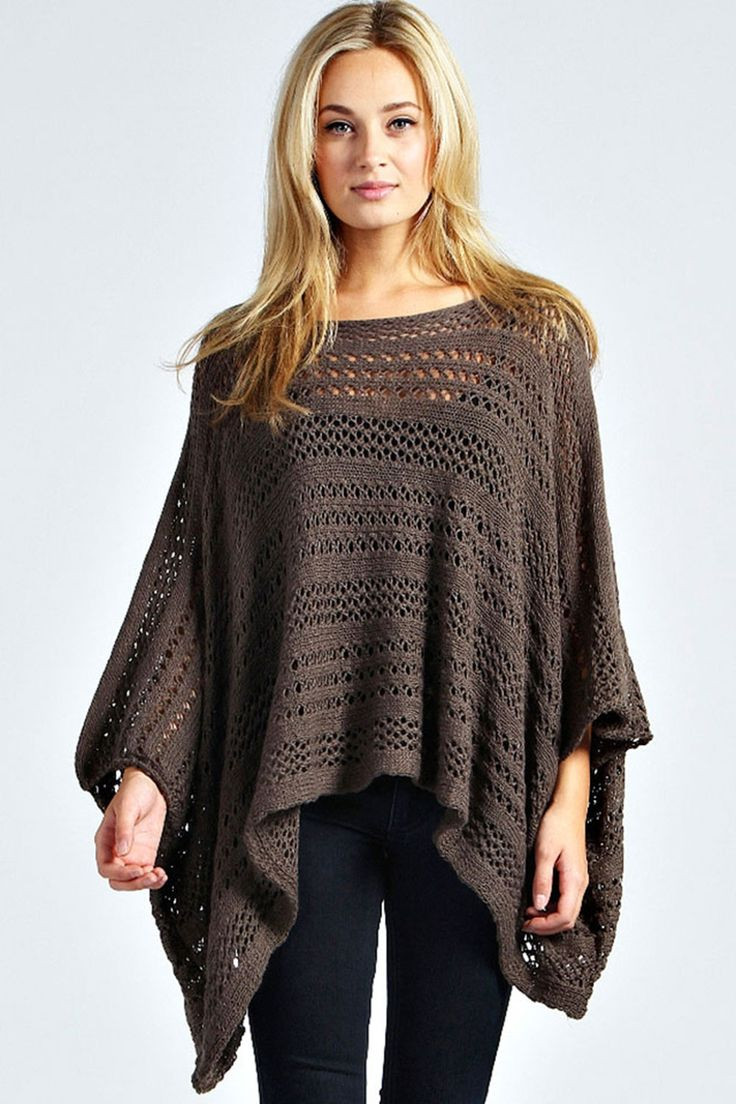 Knitted Poncho Elegant 25 Best Images About Knit Poncho On Pinterest Of Amazing 49 Photos Knitted Poncho