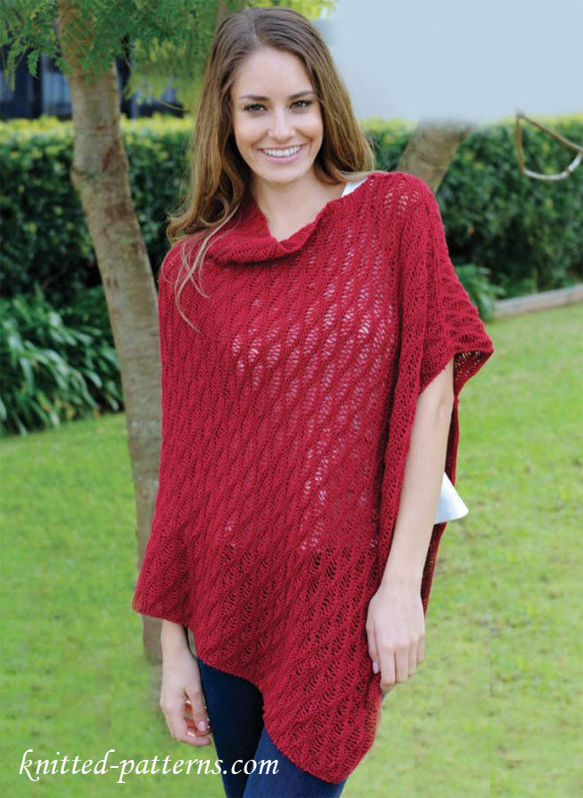 Knitted Poncho Inspirational Free Women S Ponchos Knitting Patterns Of Amazing 49 Photos Knitted Poncho