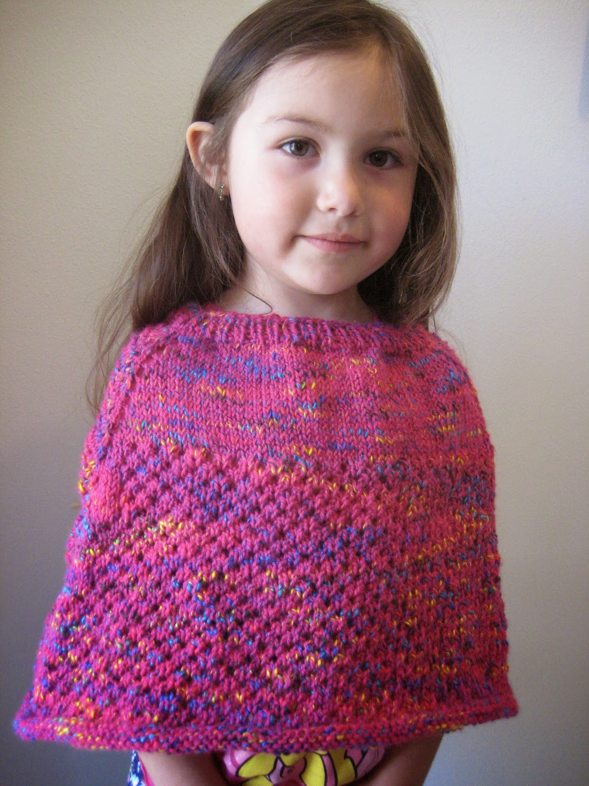 Knitted Poncho Lovely Balls to the Walls Knits Cellular Stitch Kids Poncho Of Amazing 49 Photos Knitted Poncho
