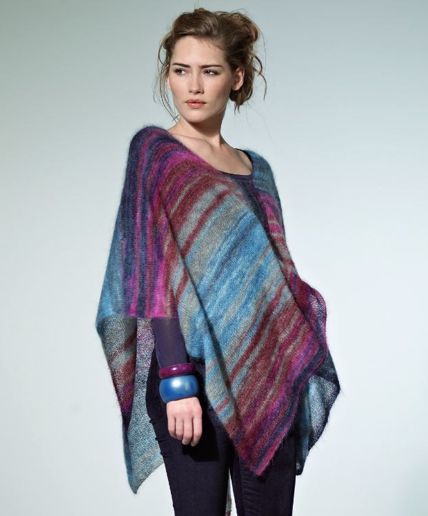 Knitted Poncho Lovely Tranquil Dusk Poncho Of Amazing 49 Photos Knitted Poncho