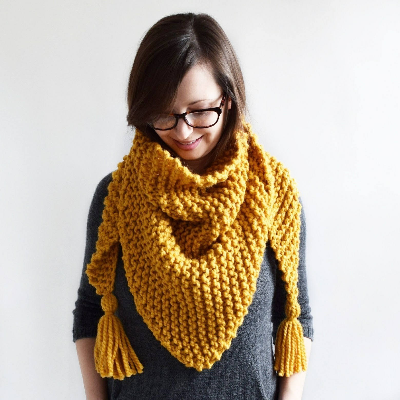 Knitted Scarf Fresh Triangle Tassel Scarf Knitting Pattern Knit Scarf Of Great 41 Ideas Knitted Scarf