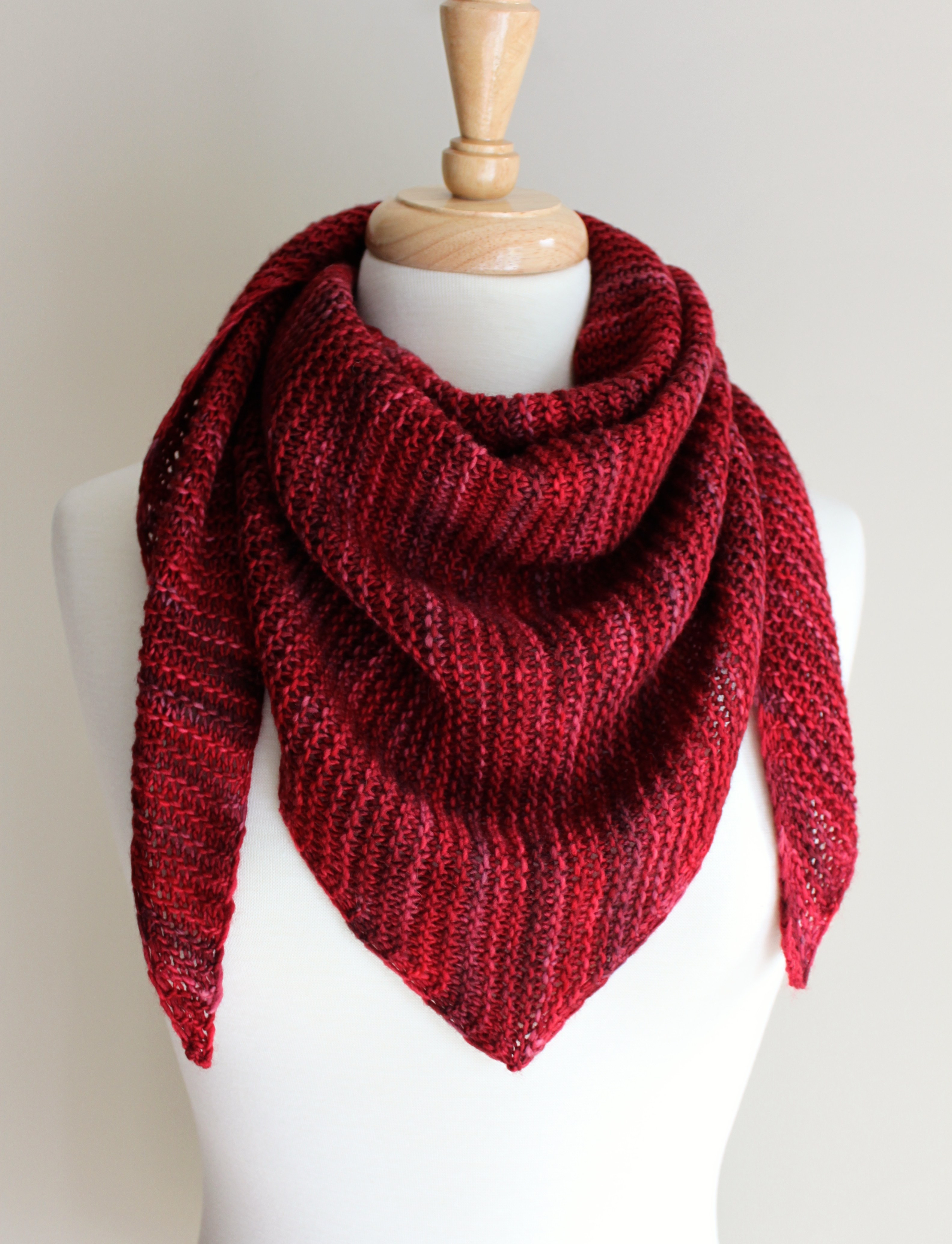 Knitted Scarf Luxury Free Knitting Patterns Truly Triangular Scarf Leah Of Great 41 Ideas Knitted Scarf