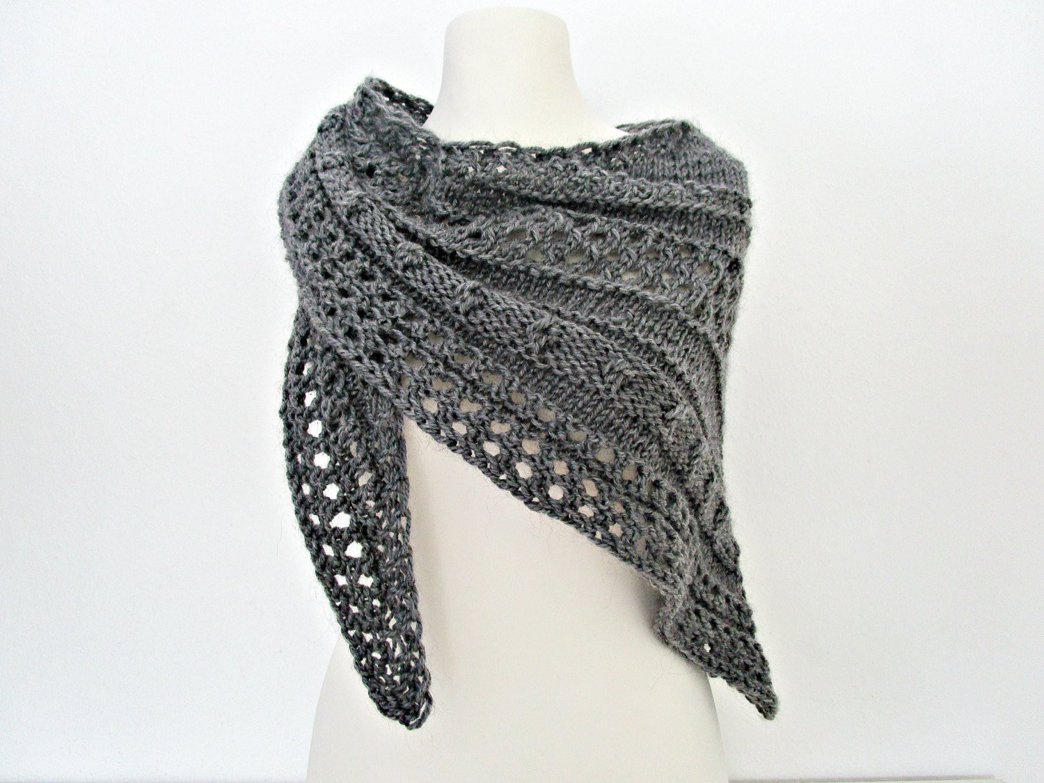 Knitted Shawl Beautiful Gray Knitted Shawls Hand Knit Shawl Wool Knitted Wrap Hand Of Fresh 47 Pics Knitted Shawl