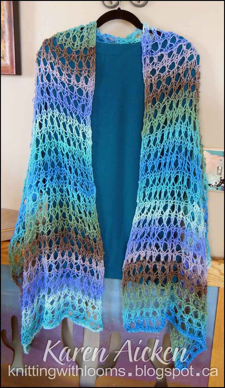 finished waves of lace shawl