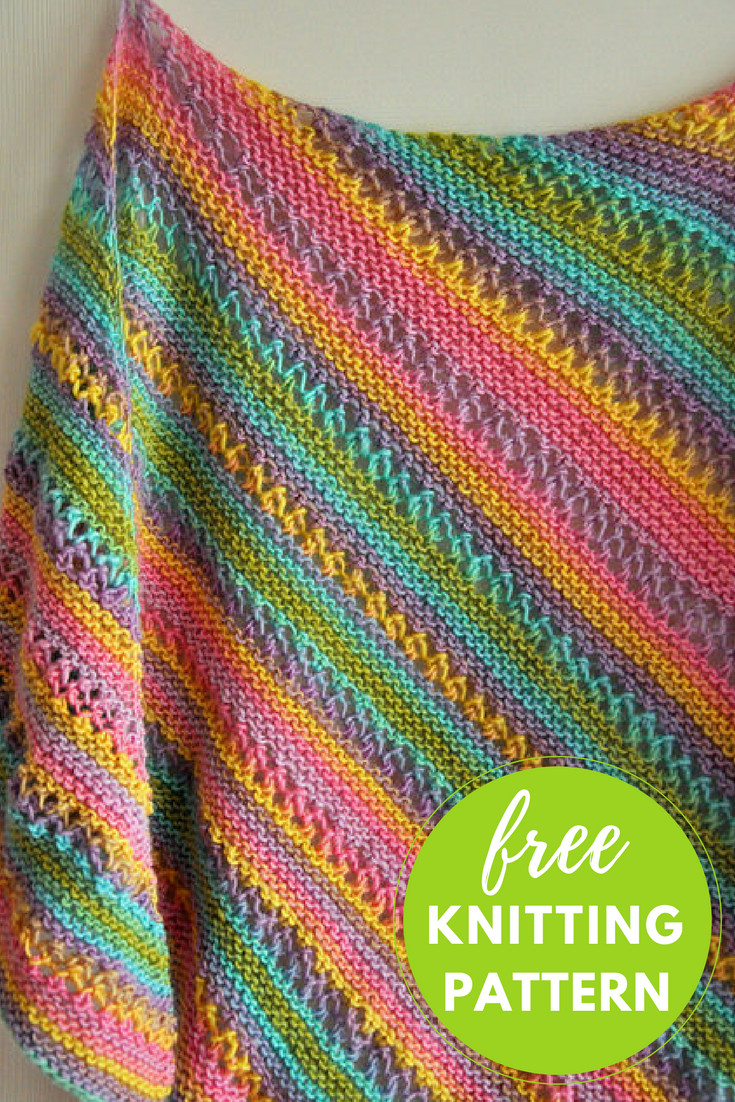 Gina Ridged Shawl Free Knitting Pattern — Blog NobleKnits