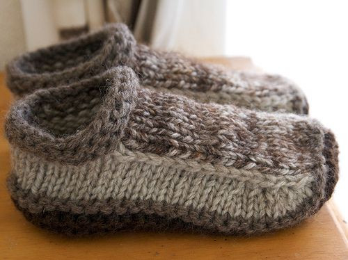 free slipper knitting patterns