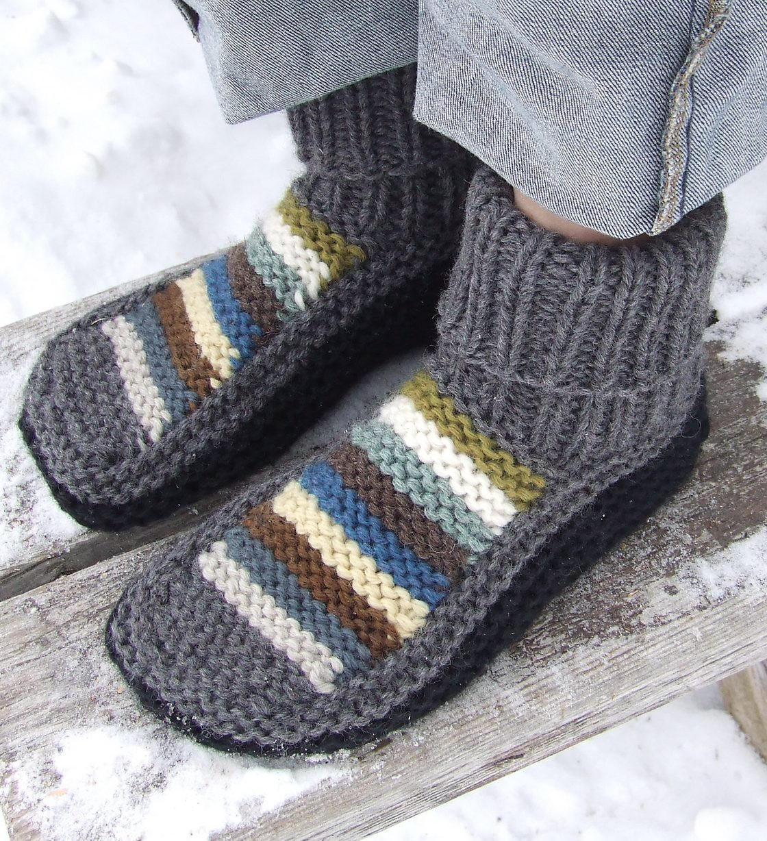 Knitted Slippers Unique Slipper socks and Boots Knitting Patterns Of New 42 Photos Knitted Slippers