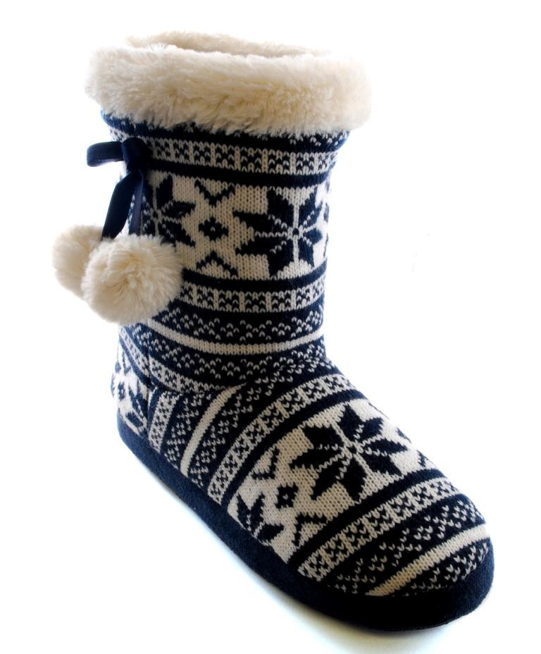 Knitted Slippers Unique Womens Slipper Boots Booties Slippers Knitted or Fleece Of New 42 Photos Knitted Slippers