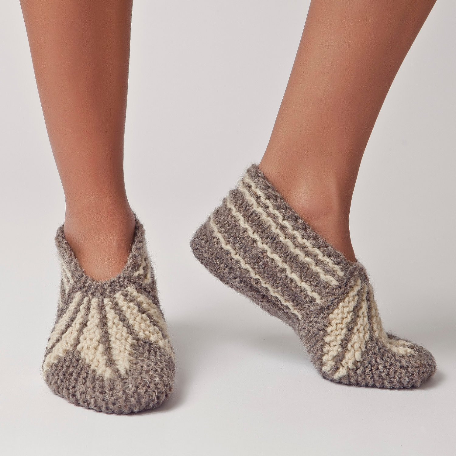 Knitted Slippers Unique Wool Slippers Handknit Wool socks Warm soft Knitted socks Of New 42 Photos Knitted Slippers