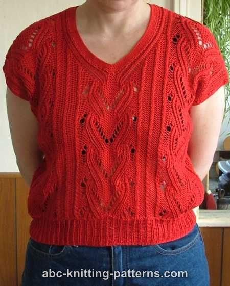 Knitted Summer tops Awesome Abc Knitting Patterns Knitted Red Summer top Of Attractive 48 Ideas Knitted Summer tops