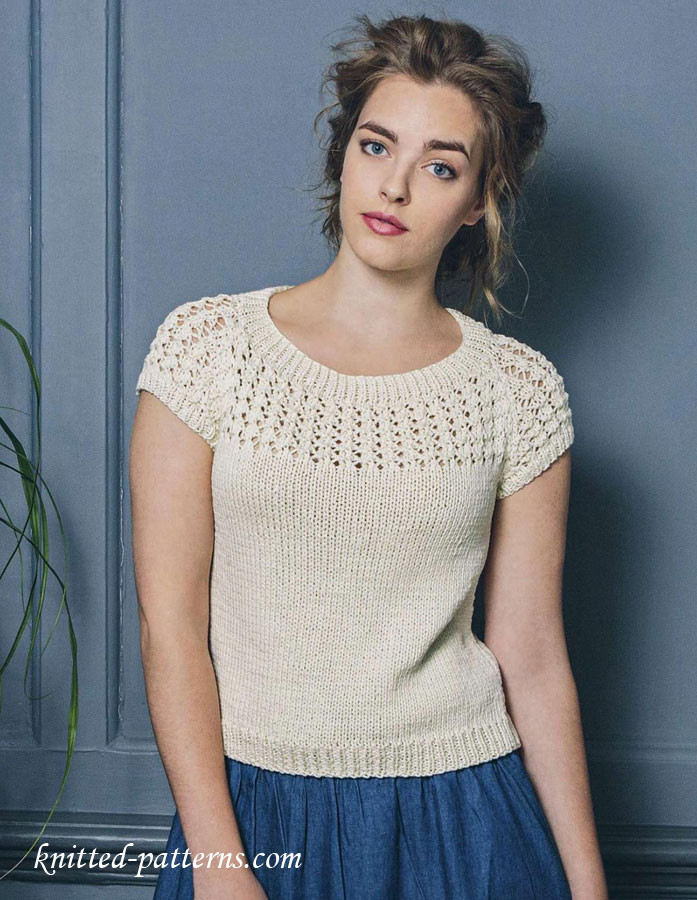Knitted Summer tops Inspirational Summer top Free Knitting Pattern Of Attractive 48 Ideas Knitted Summer tops