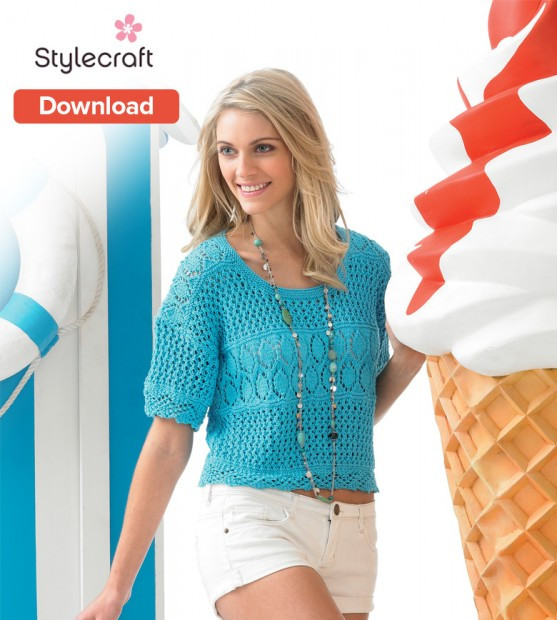 Knitted Summer tops Lovely Summer Stylecraft top Knitting Pattern • Loveknitting Blog Of Attractive 48 Ideas Knitted Summer tops