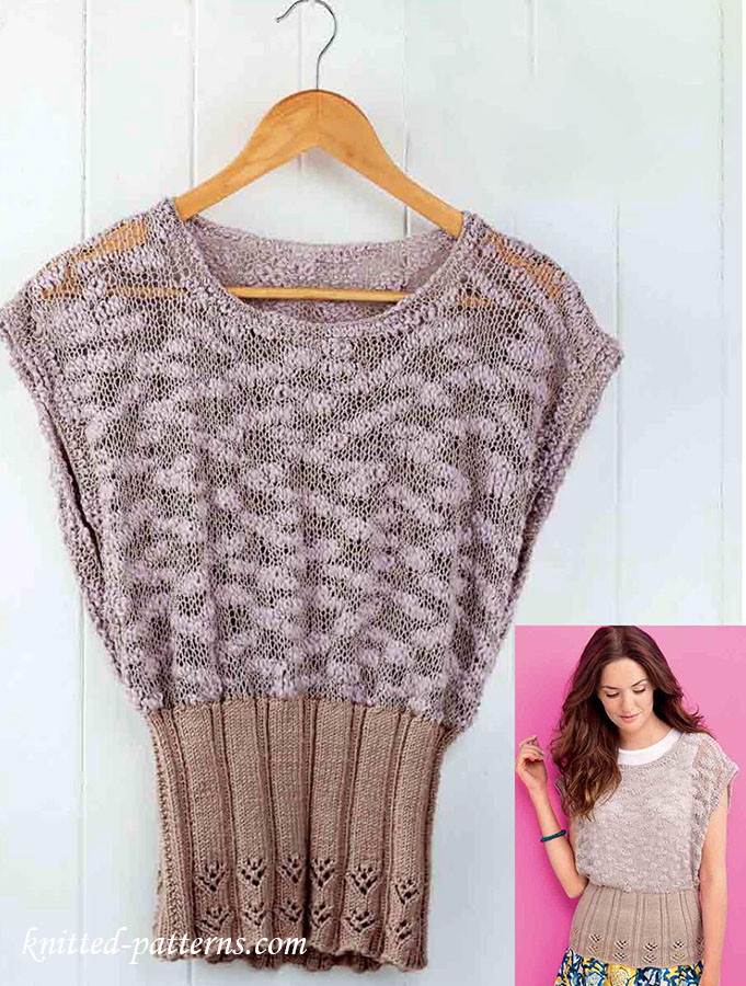 Knitted Summer tops Luxury La S Summer top Knitting Pattern Of Attractive 48 Ideas Knitted Summer tops