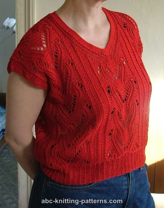 Knitted Summer tops Unique Abc Knitting Patterns Knitted Red Summer top Of Attractive 48 Ideas Knitted Summer tops