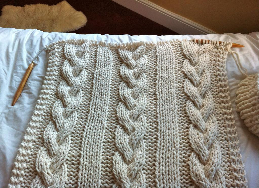 Knitted Throw Awesome Cable Knit Blanket with Circular Needles – House Photos Of Wonderful 48 Images Knitted Throw