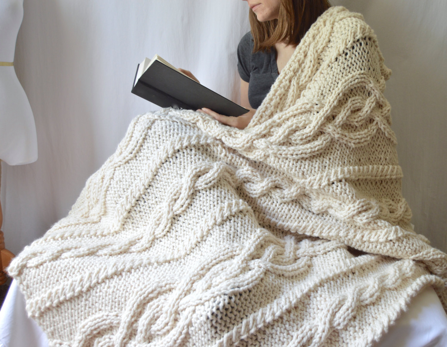 Knitted Throw Awesome Chunky Knit Cable Throw Blanket Knitting Pattern Pdf Of Wonderful 48 Images Knitted Throw