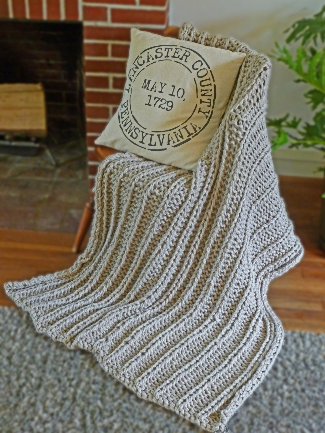 Knitted Throw Beautiful Chunky Blanket Knitting Pattern Chunky Knit Throw Pattern Of Wonderful 48 Images Knitted Throw