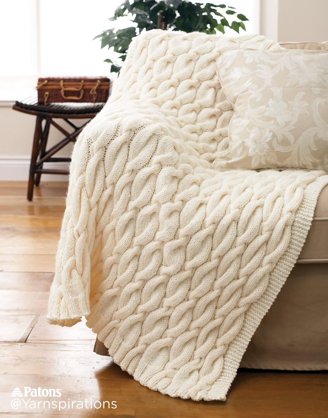 Knitted Throw Elegant Patons Knit Cable Blanket Knit Pattern Of Wonderful 48 Images Knitted Throw
