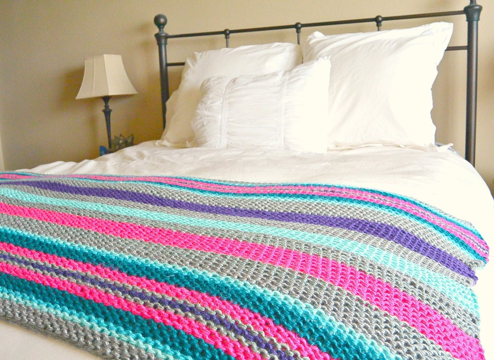 Knitted Throw Inspirational Native Stripes Knit Blanket Pattern Of Wonderful 48 Images Knitted Throw
