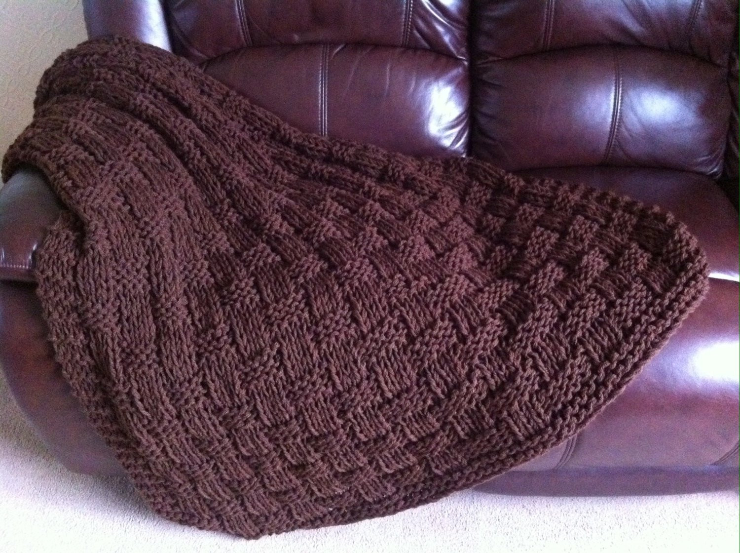 Knitted Throw Lovely Chunky Basket Weave Hand Knit Blanket Throw Chocolate Of Wonderful 48 Images Knitted Throw