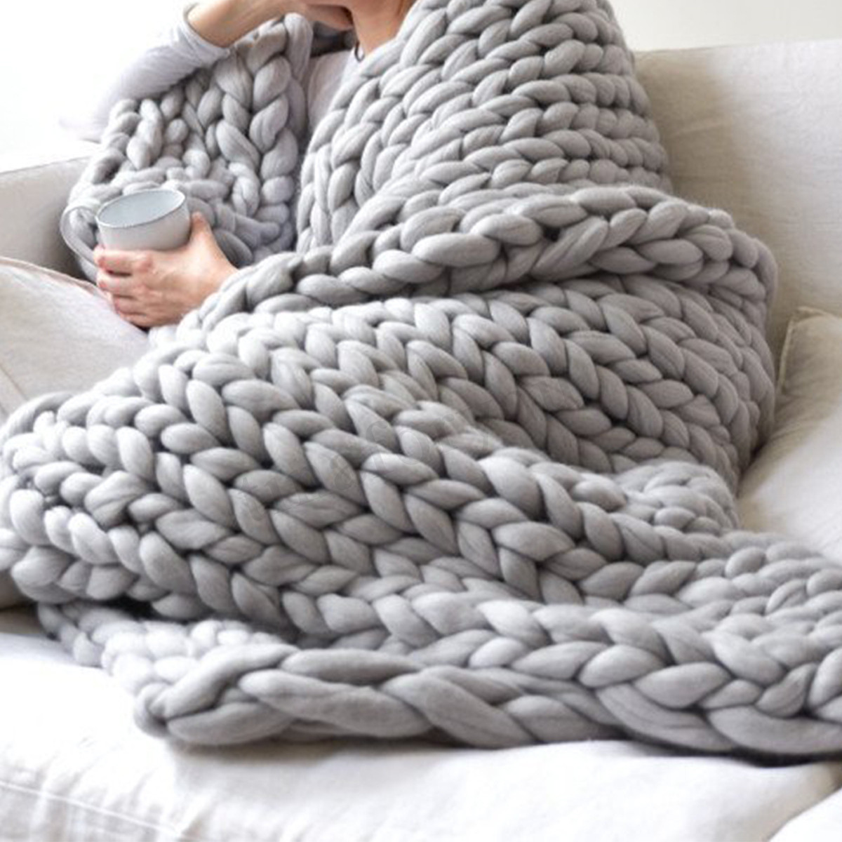 Knitted Throw Luxury Handmade Chunky Knitted Blanket Wool Thick Line Yarn Of Wonderful 48 Images Knitted Throw