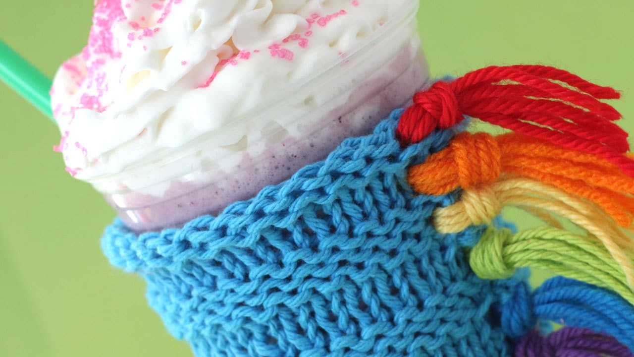 How to Knit a Unicorn Drink Cozy Pattern with Video