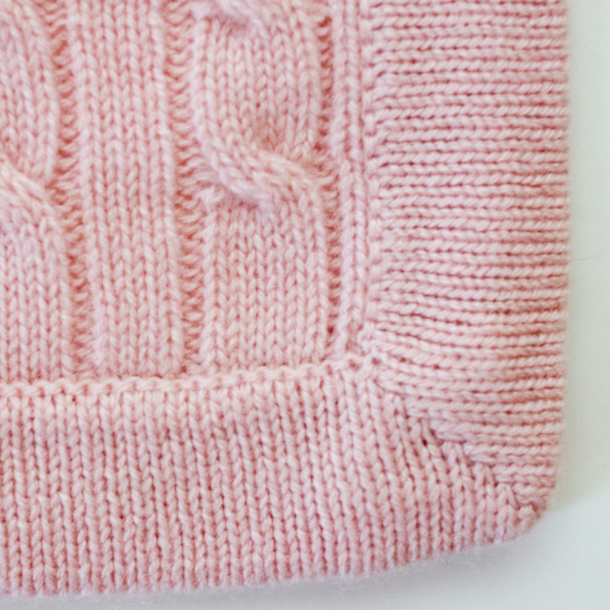knit baby blanket beginners