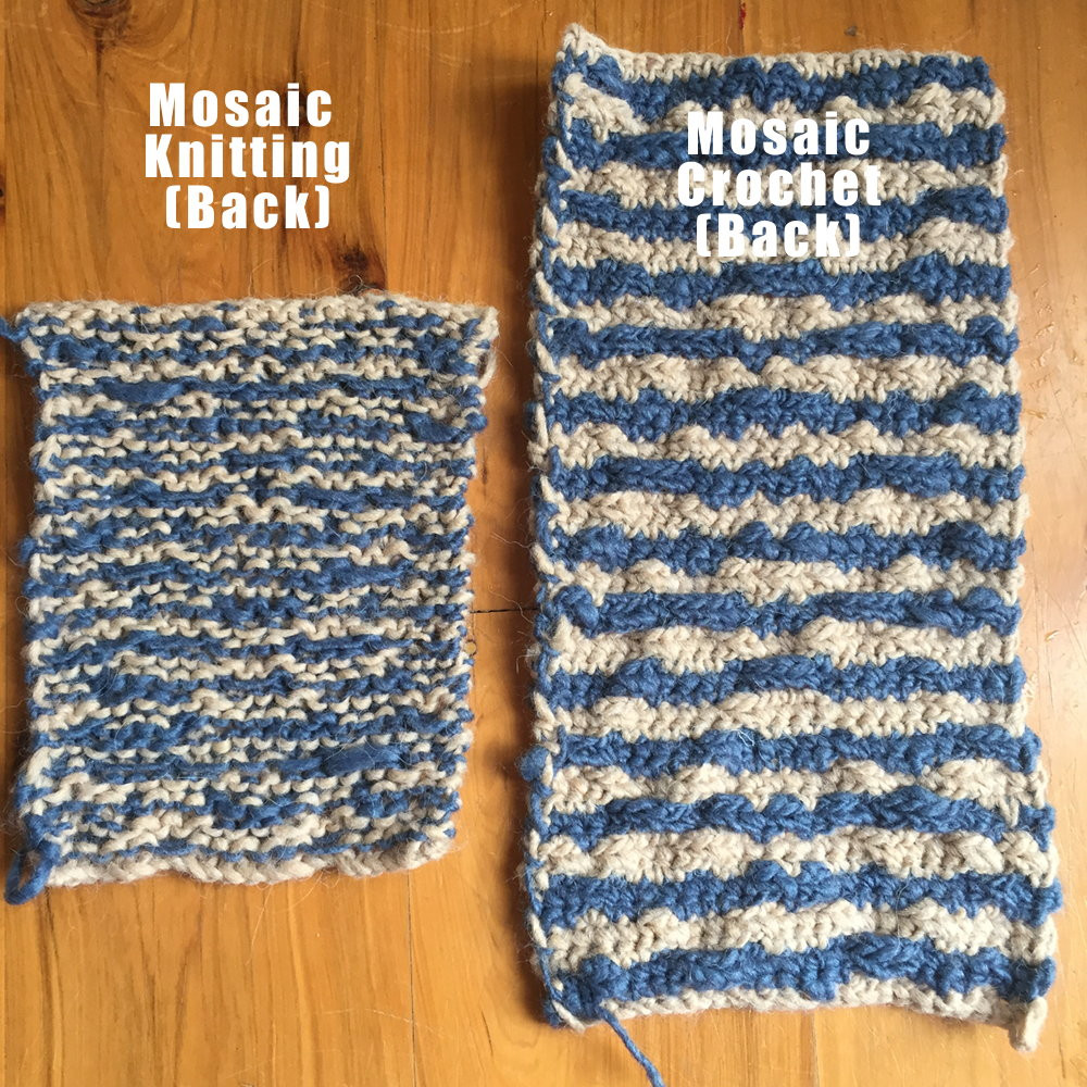 Knitting and Crochet Awesome Mosaic Knitting Vs Mosaic Crochet ・clearlyhelena Of Amazing 45 Photos Knitting and Crochet