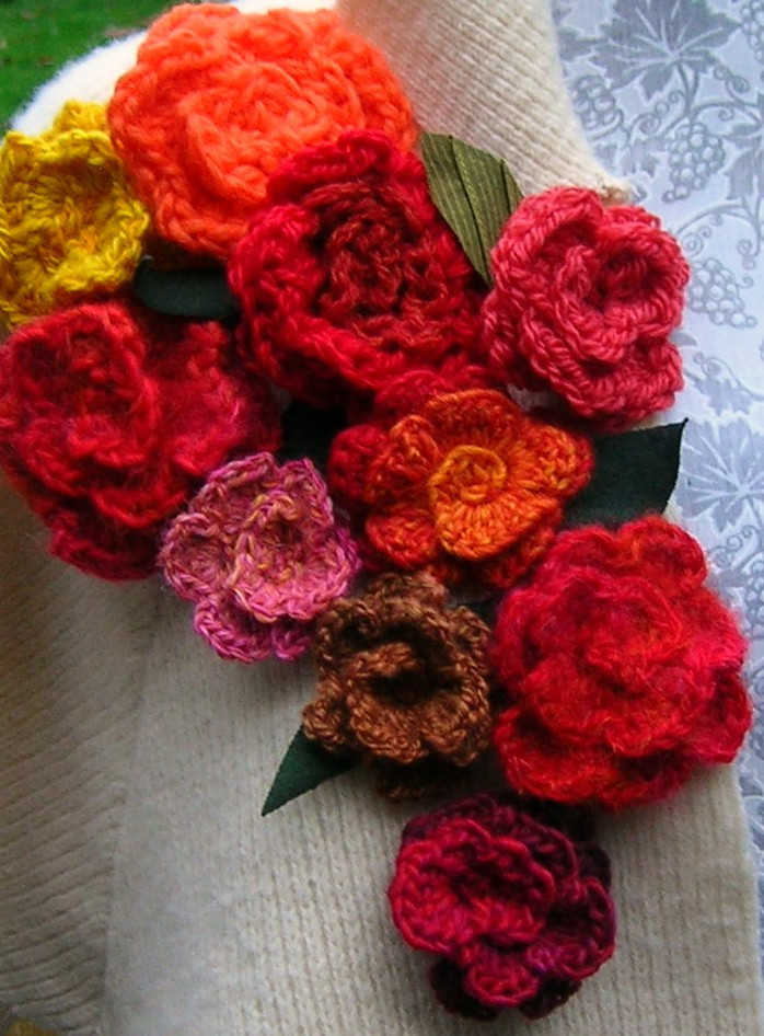 Knitting Patterns Free crochet flowers