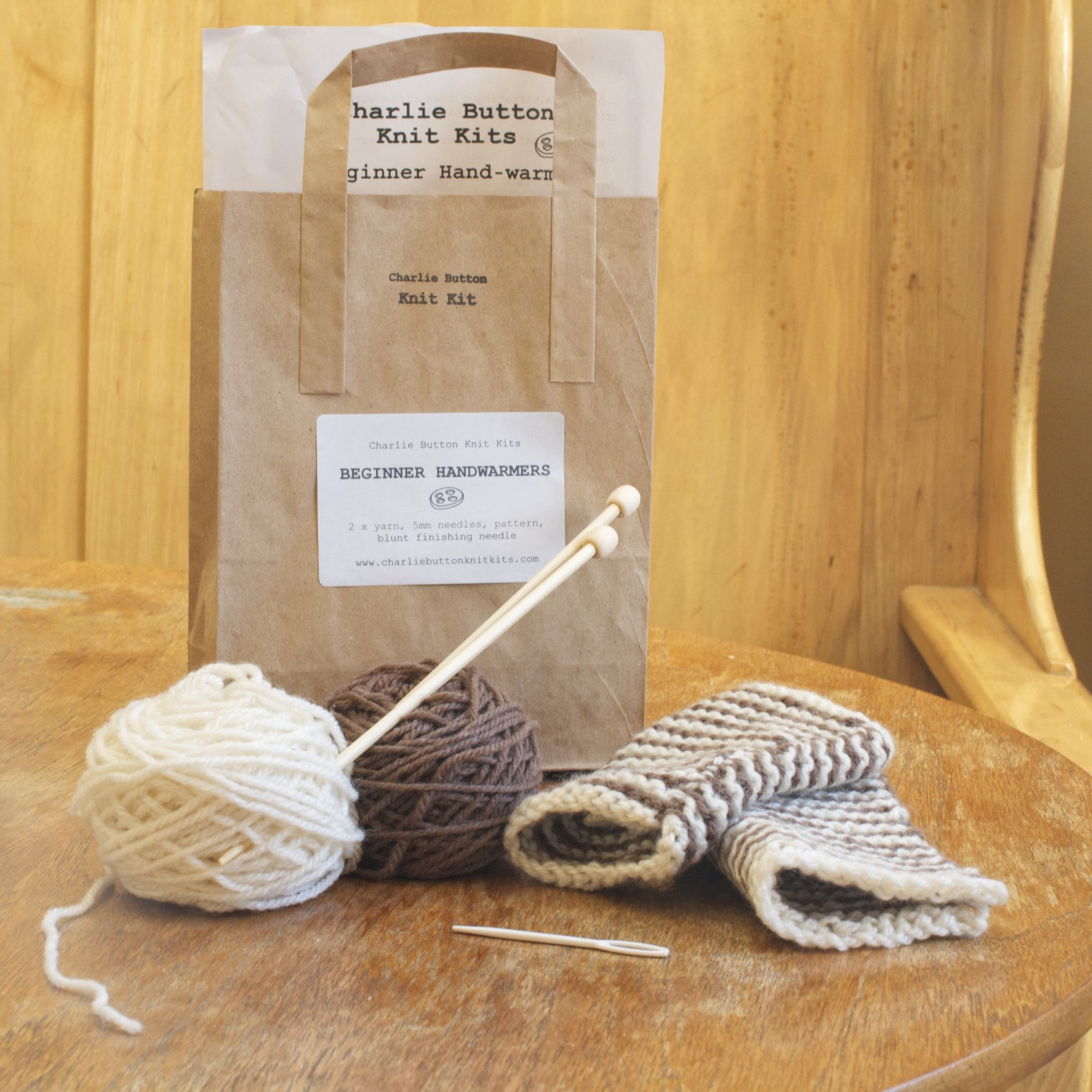 Knitting Kits Inspirational Beginner Knitting Kit Hand Warmers Cream and Coffee Of Perfect 44 Images Knitting Kits