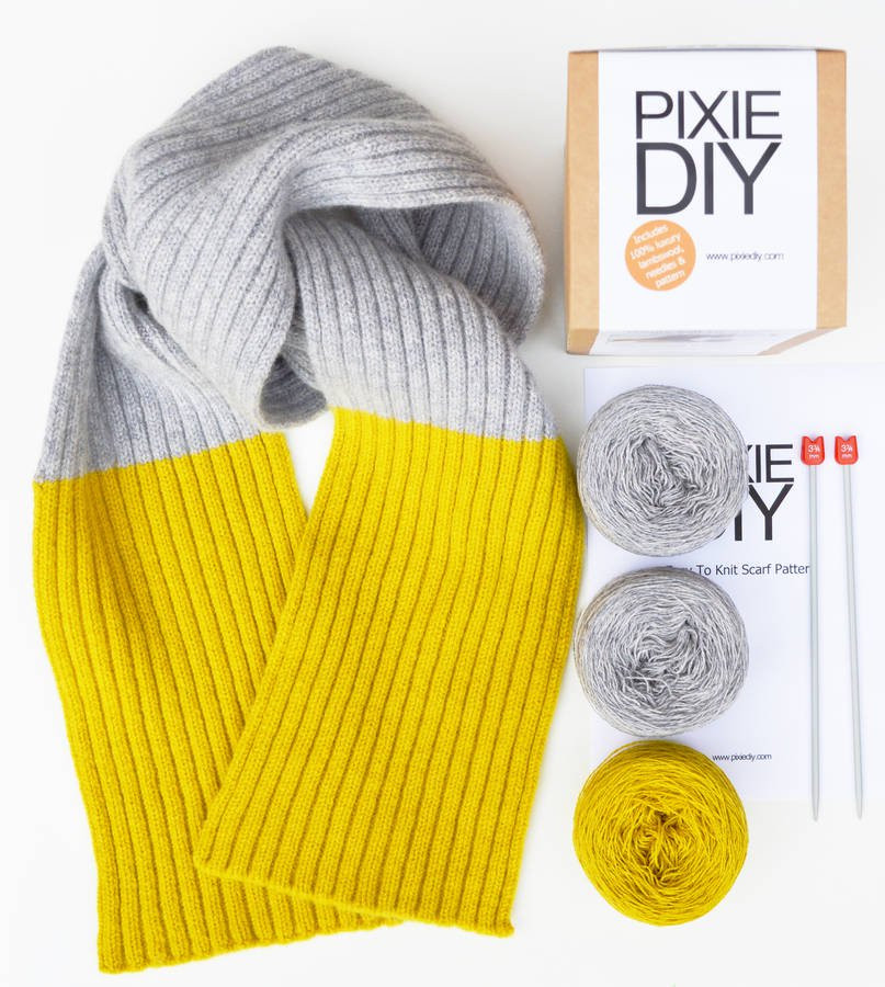 Knitting Kits Unique Ribbed Scarf Knitting Kit by Warm Pixie Diy Of Perfect 44 Images Knitting Kits